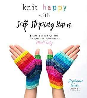 Knit happy with self striping yarn cover